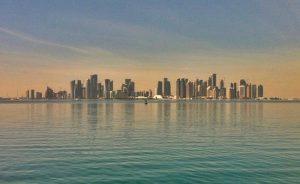 Skyline en Doha, Qatar
