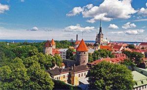 Vista aérea de Tallin,